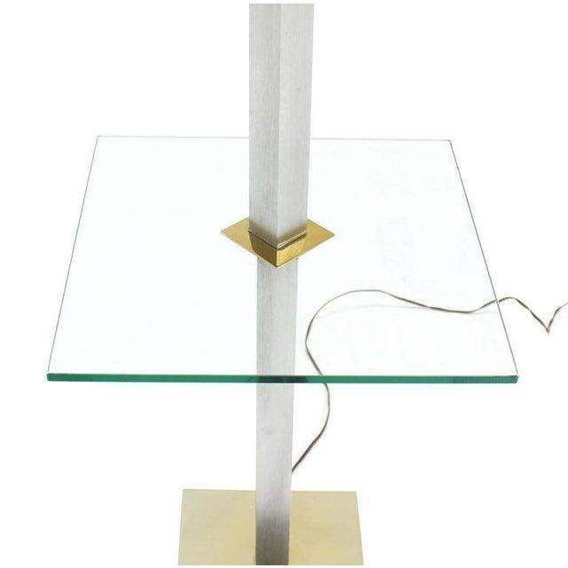 Mid-Century Modern square post table floor lamp.