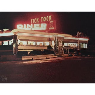 """""""Tick Tock Diner"""" Lithograph Signed and Numbered by John Baeder For Sale"""