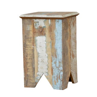 Sleek Painted Reclaimed Teak Table