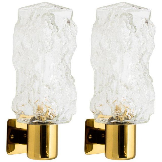 Gold Pair of Mid-Century Modern Brutalist Sconces by Kalmar For Sale - Image 8 of 8
