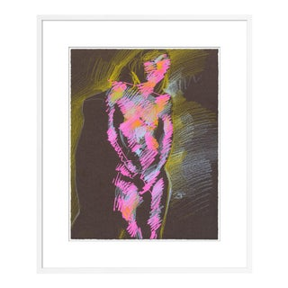 Figure 8 by David Orrin Smith in White Frame, Small Art Print For Sale