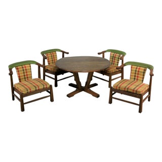 A. Brandt Company Ranch Oak Brunch or Game Table and 4 Chairs