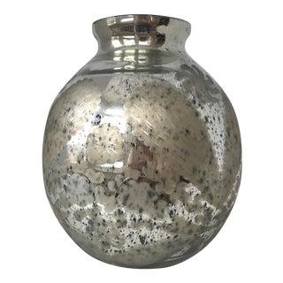 Large Mercury Glass Vessel Vase