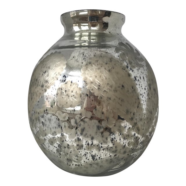 Large Mercury Glass Vessel Vase Chairish
