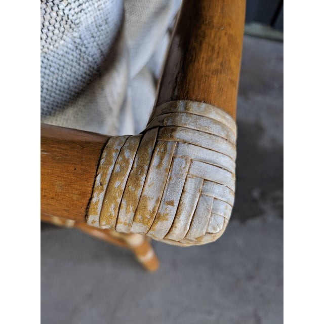 1980s Contemporary McGuire Bamboo Rattan Sofa For Sale - Image 9 of 11