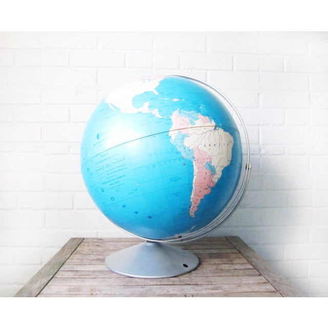 Aluminum 1970s Vintage Large Globe For Sale - Image 7 of 11