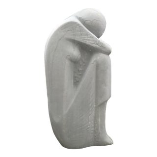 Weeping Girl Ceramic Sculpture