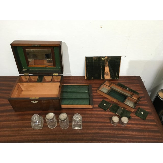Victorian Gentleman's Traveling Dressing Table Set For Sale In Los Angeles - Image 6 of 10