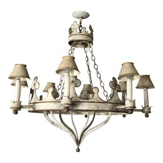 Niermann Weeks Gothic Style Tole Chandelier For Sale