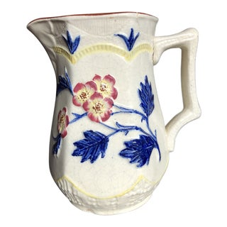 Antique English Majolica Pitcher For Sale