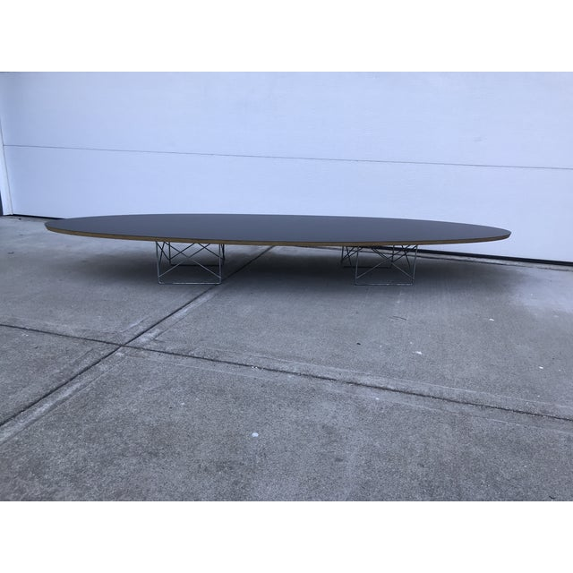 Metal Mid-Century Modern Herman Miller Black Laminate Surfboard Coffee Table For Sale - Image 7 of 8