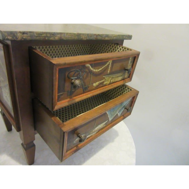 Wood Trompe l'Oeil Mid Century 1970's Hickory Chair Collector's MIX Miniature Chest For Sale - Image 7 of 12