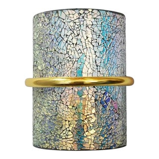 Crackled Iridescent Glass Sconces by Fabio Ltd For Sale