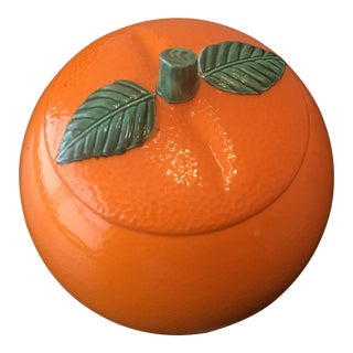 1960s Contemporary Ceramic Orange Cookie Jar