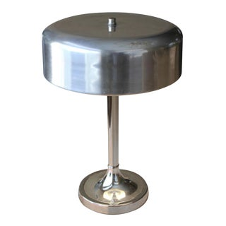 Bauhaus Nickel Plated Desk Lamp For Sale