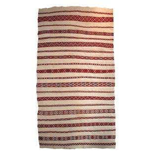 "1950s Antique Handmade Moroccan Kilim - 5'2"" x 8'5"" For Sale"