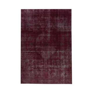 "Modern Industrial Style Distressed Over-Dyed Rug - 9'3"" X 12'1"" For Sale"