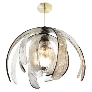 Artichoke Murano Glass Chandelier by Mazzega For Sale