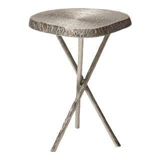 Roderick End Table, Raw Nickel For Sale