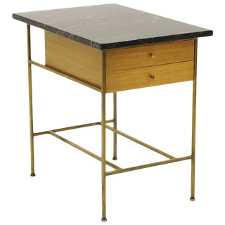 Paul McCobb Irwin Collection for Calvin End Table or Nightstand, Marble, Brass For Sale