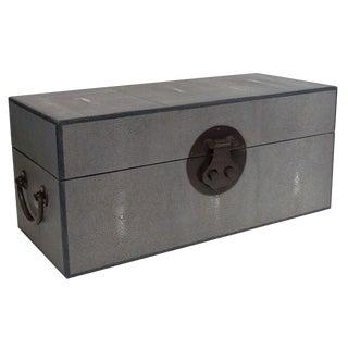 Gray Shagreen Wood Box by Fabio Ltd For Sale