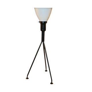 Pair of Gerald Thurston for Lightolier Tripod Table Lamps For Sale