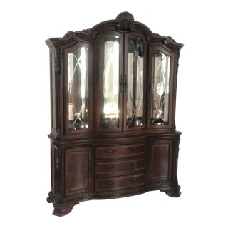 Traditional Wood Glass Display Case For Sale