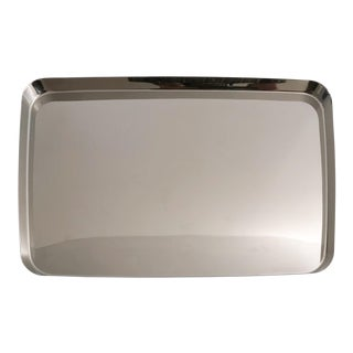 Alessi Polished Stainless Steel Tray Designed by Kriistina Lassus For Sale