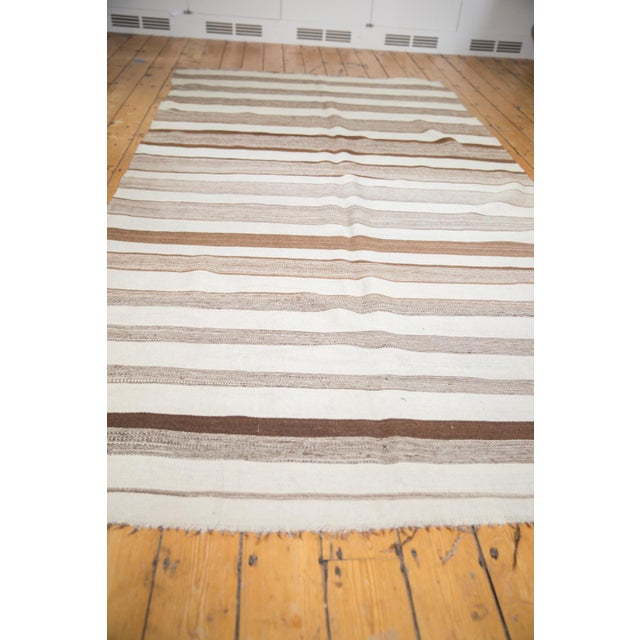 "Vintage Moroccan Kilim Rug Runner - 5'8"" X 11' For Sale - Image 9 of 12"
