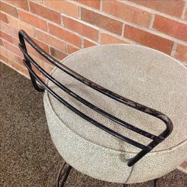 Mid-Century Modern Wrought Iron Stool - Image 7 of 10
