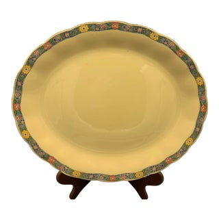 1960s Grindley's Laburnum Floral Rim Platter For Sale