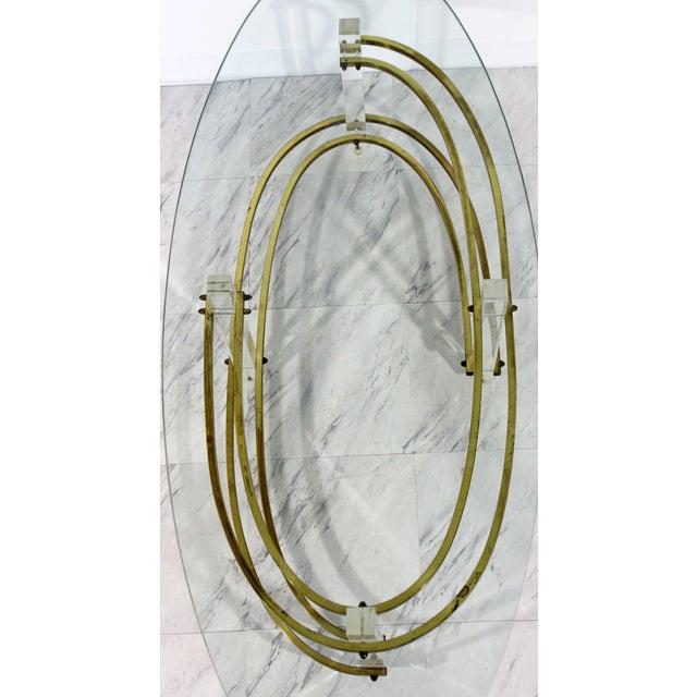 Brass Mid Century Modern Brass Lucite Surfboard Coffee Table Hollis Jones 1970s For Sale - Image 7 of 9