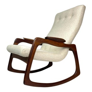 Adrian Pearsall Craft Associates Sculptural Rocking Chair Rocker New Upholstery For Sale