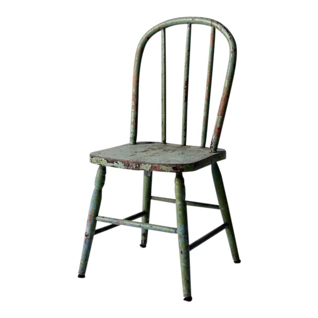 Antique Children's Chair With Spindle Back - Antique Children's Chair With Spindle Back Chairish