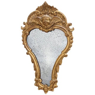 Early 19th Century Italian Carved and Giltwood Mirror For Sale
