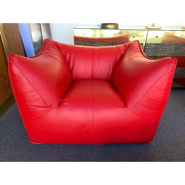 1970s Le Bambole Armchairs Red Leather by Mario Bellini for B&b Italia For Sale - Image 11 of 13