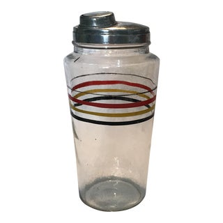 1930's Glass Cocktail Shaker For Sale
