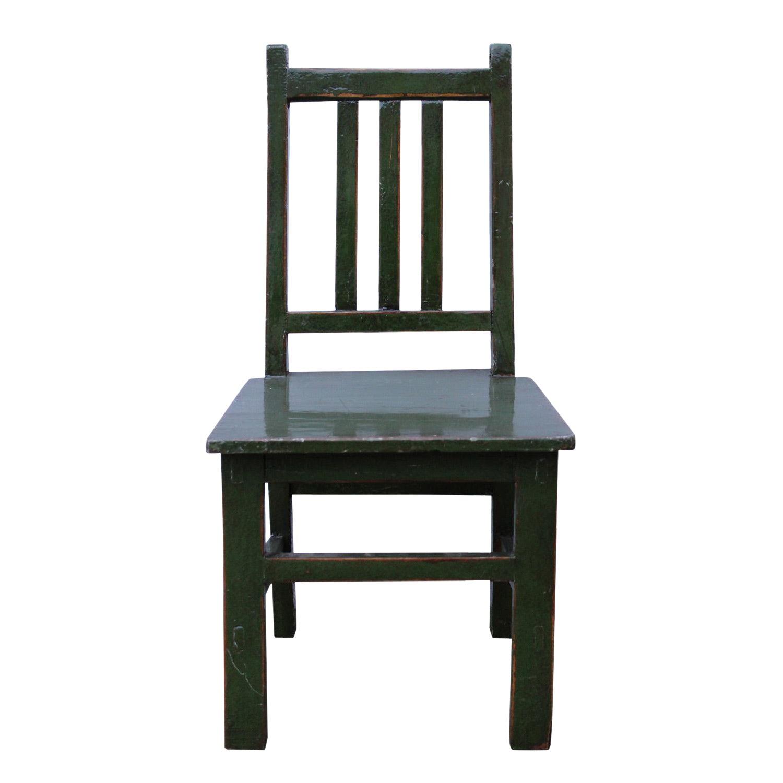 Admirable Asian Style Handmade Dark Green Small Wood Chair Beatyapartments Chair Design Images Beatyapartmentscom