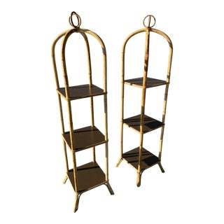 Rattan Cages Shelfs by Rosental Netter a Pair For Sale