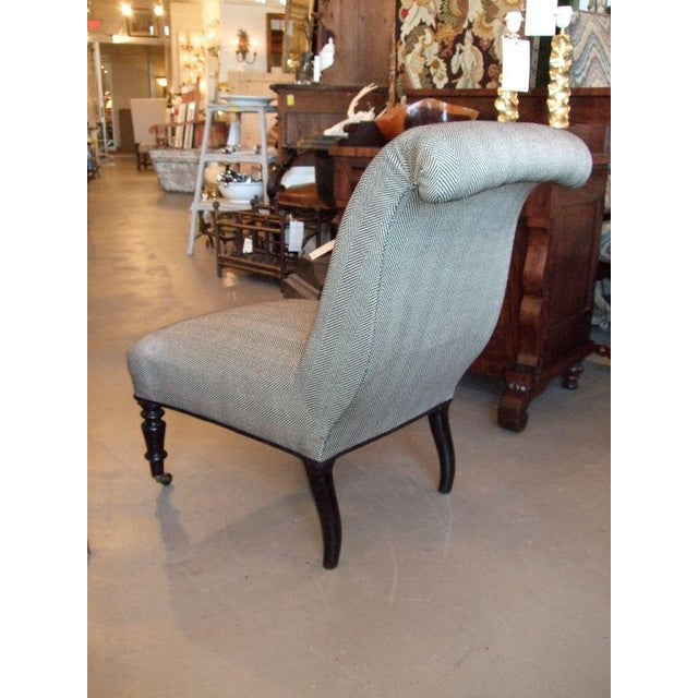 19th Century Napoleon III Slipper Chair For Sale - Image 9 of 10