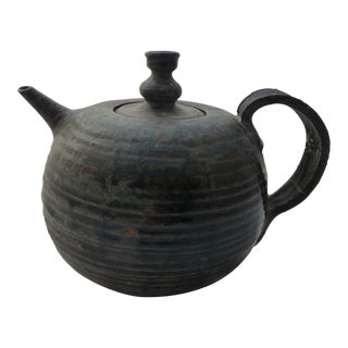 Organic Mid-Century Studio Pottery Tea Pot