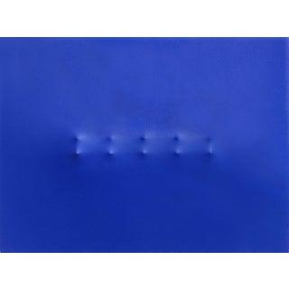 "Blue Dimensional Minimalism Artwork on Canvas, ""Montana"" by Len Klikunas For Sale"