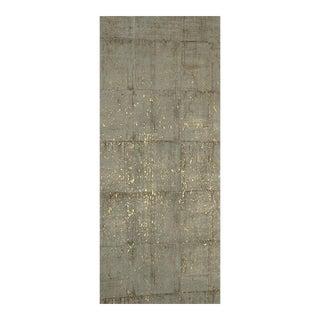 Taupe Printed Cork With Metallic Gold Wallpaper