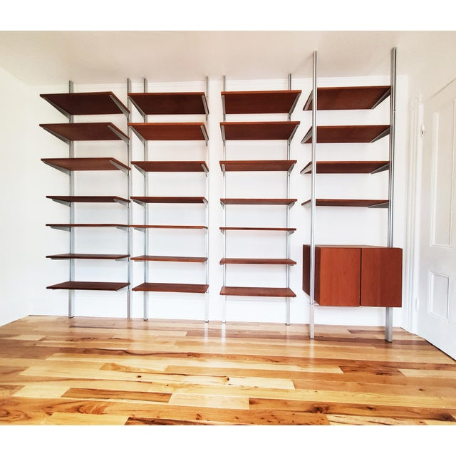 A Mid Century Modern Wall Unit Bookshelves System For Sale - Image 11 of 11