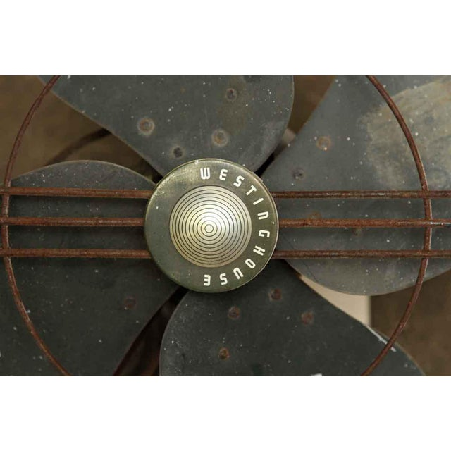 Industrial Vintage Westinghouse Wall Mount Fan For Sale - Image 3 of 6