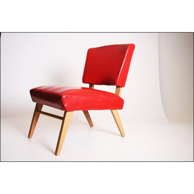 Mid Century Modern Red Viking Artline Slipper Chair Chairish