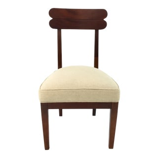 Transitional Hickory Chair Cream Linen Southfield Chair For Sale