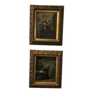 18th Century German Paintings - a Pair For Sale