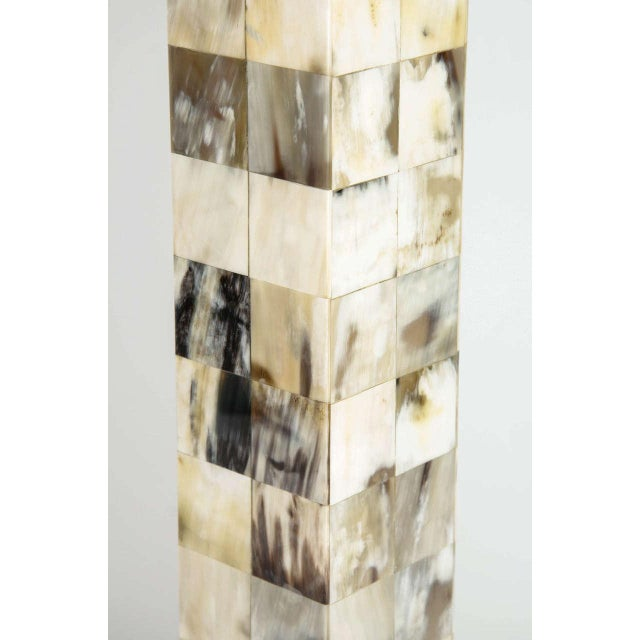 Mosaic Genuine Horn Table Lamp For Sale - Image 4 of 8