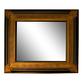 Labarge Black and Gold Gilded Mirror For Sale